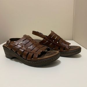 Born Women's INYA Leather Strappy Chunky Sandal 8